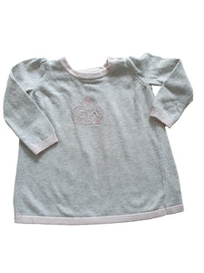 THE LITTLE WHITE COMPANY girl dress 0-3m