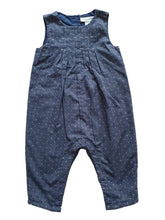 Load image into Gallery viewer, THE LITTLE WHITE COMPANY girl dungaree 6-9m
