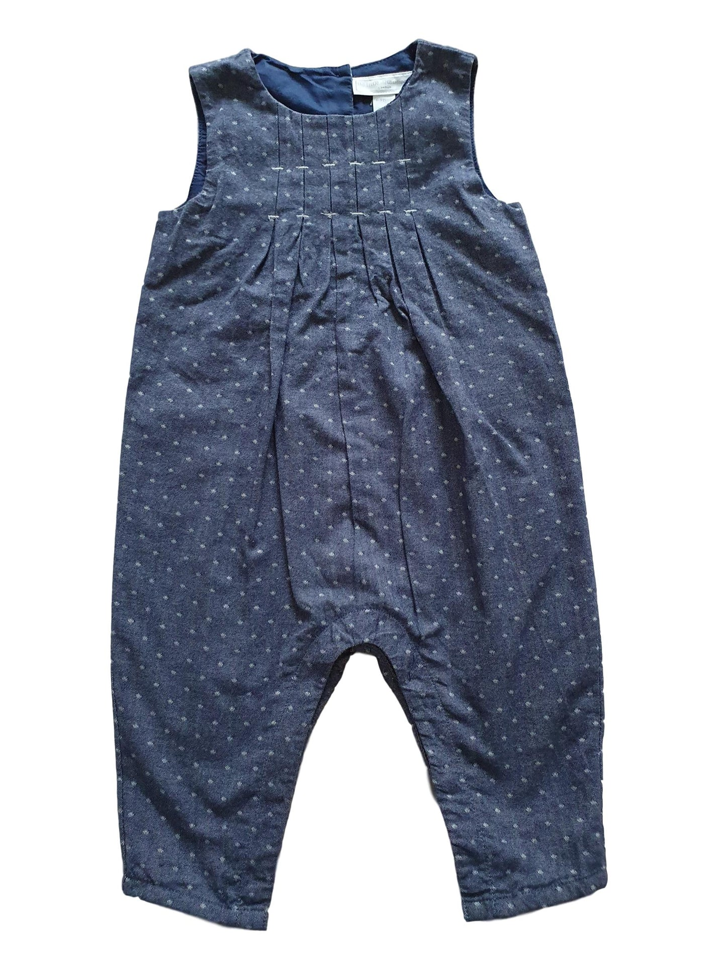 THE LITTLE WHITE COMPANY girl dungaree 6-9m