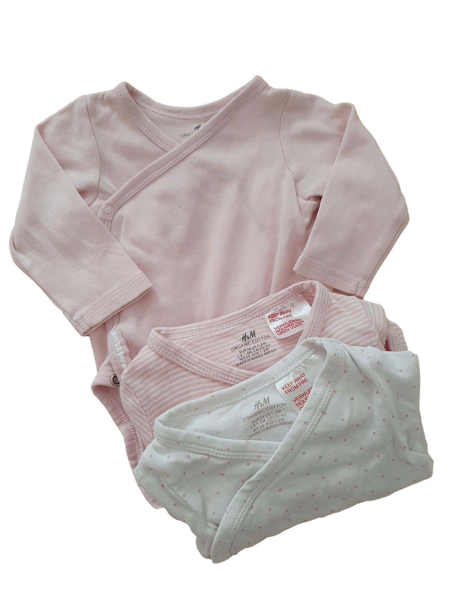 HM girl bodysuit set 1-2m