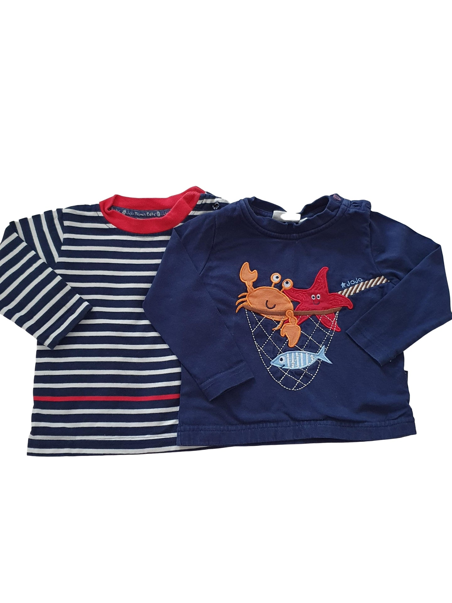 MAMAN JOJO BEBE boy tee shirt set 6-12m