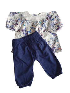 M&S girl set 9/12m