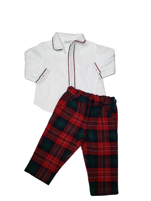 PATACHOU boy tartan set 9m