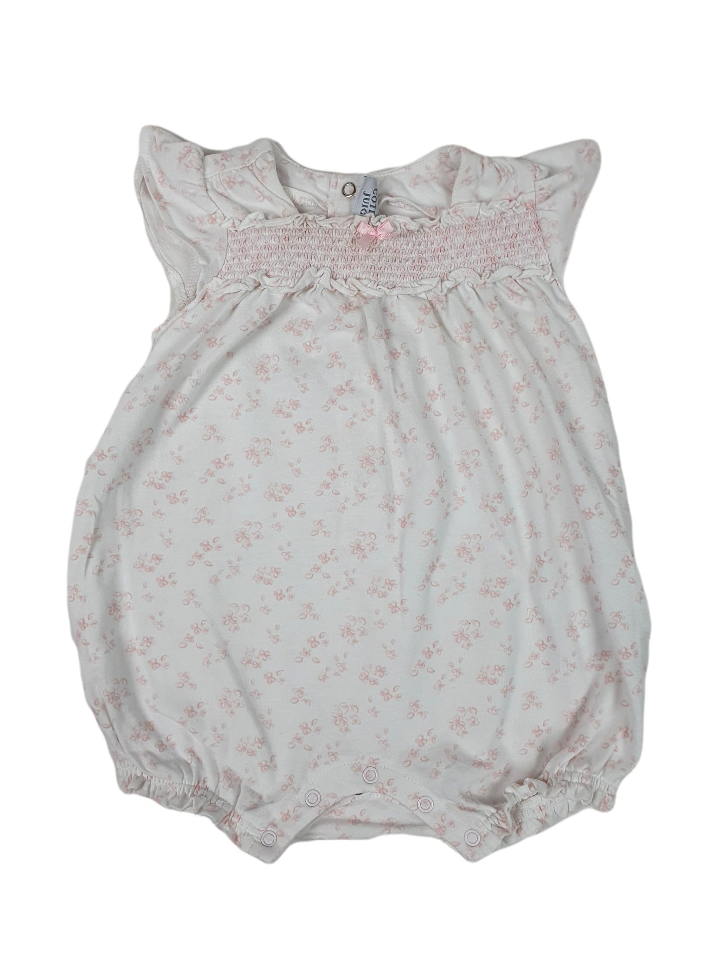 COTTON JUICE girl romper 6-12m