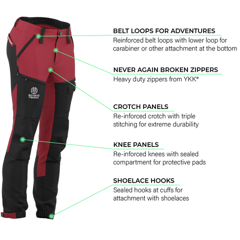 Load image into Gallery viewer, BN001 Women's Hiking Pants Rio Red
