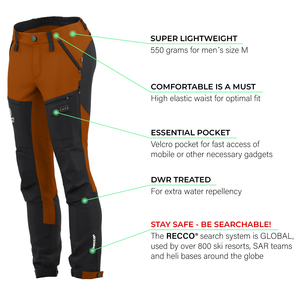 BN001 Women's Hiking Pants Burnt Orange