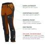 Load image into Gallery viewer, BN001 Women's Hiking Pants Burnt Orange