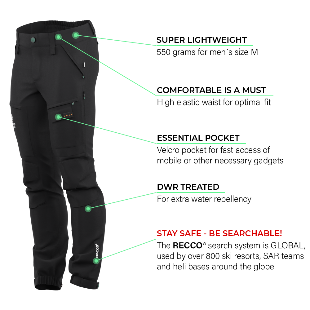 Load image into Gallery viewer, BN001 Men's Hiking Pants Jet Black
