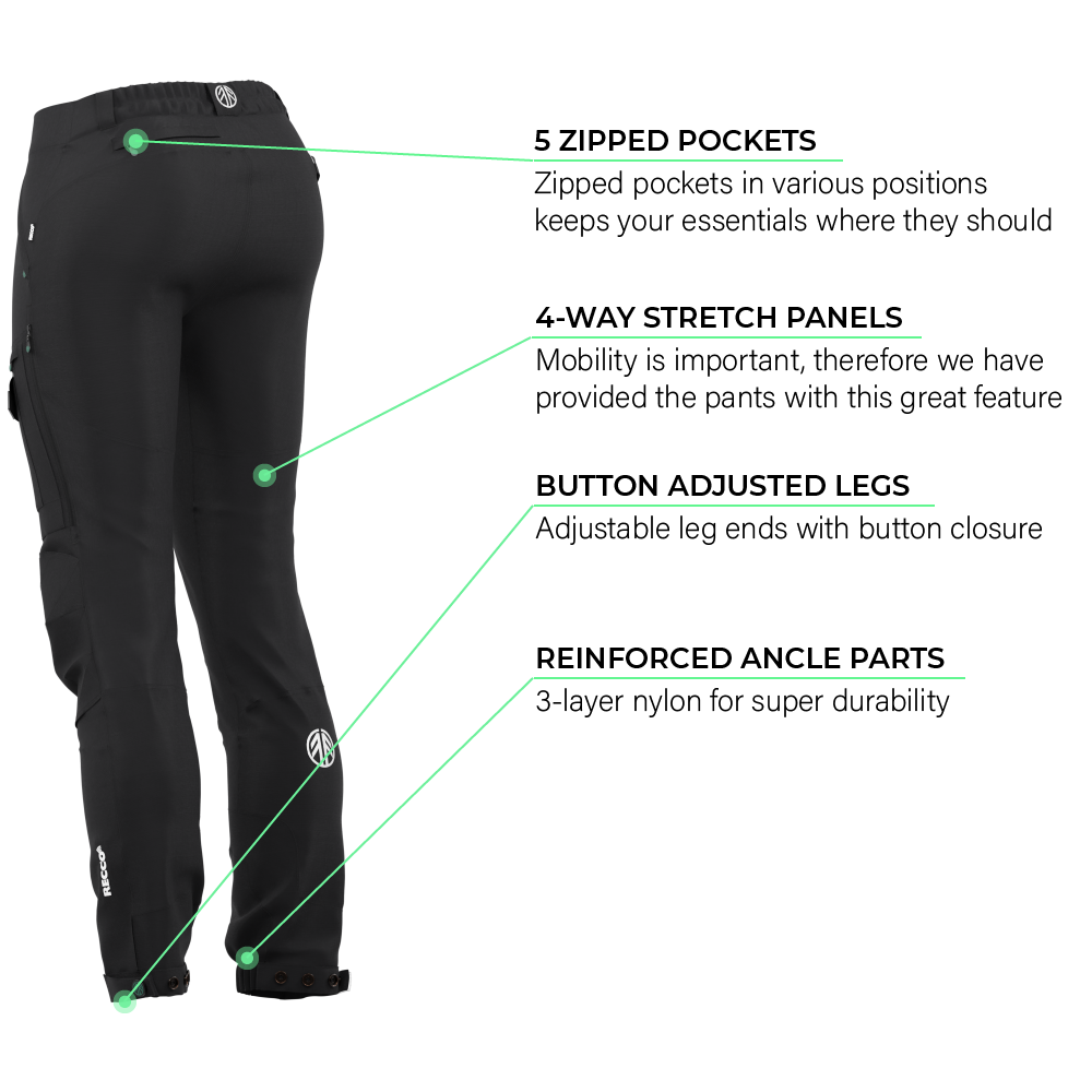 BN001 Women's Hiking Pants Jet Black