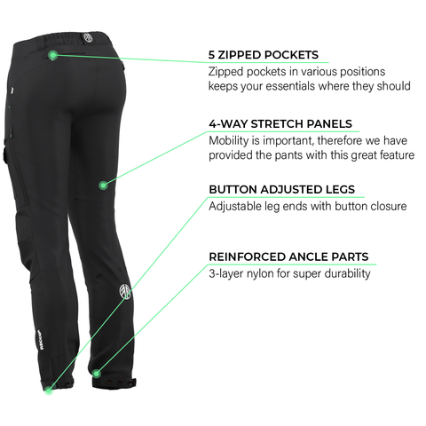 Load image into Gallery viewer, BN001 Women's Hiking Pants Jet Black