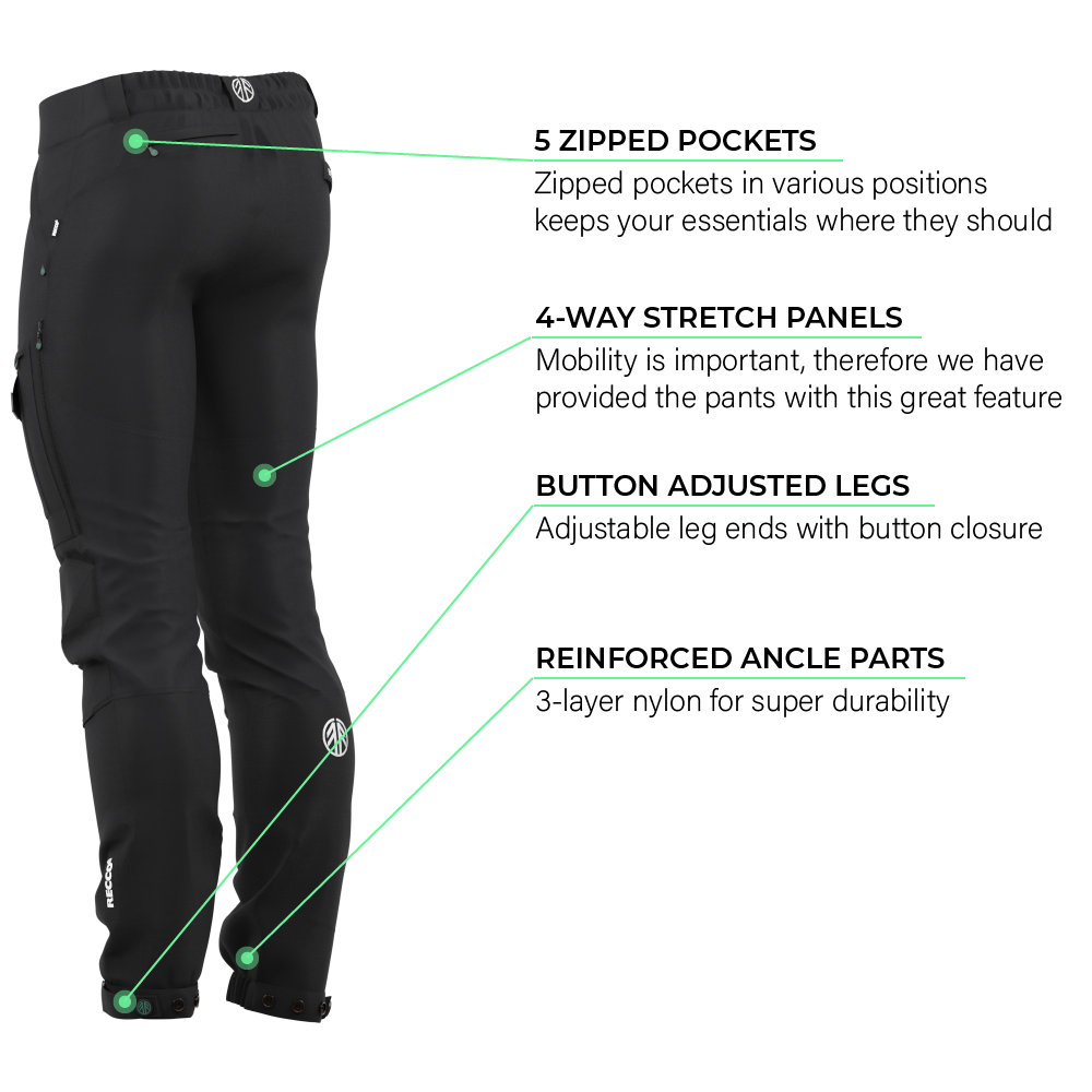 BN001 Men's Hiking Pants Jet Black