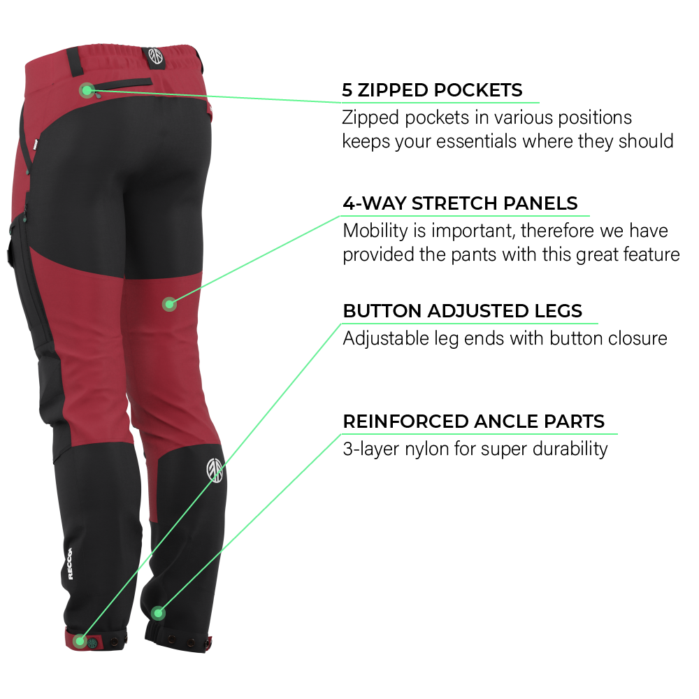 BN001 Men's Hiking Pants Rio Red