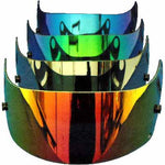 SAMPLE PICTURE - A range of mirrorised (red/orange, silver, blue and green) and standard (clear, dark and light tints, yellow-coated) shields are available for the Arai SK-6/GP-6 Adult Karting Helmets