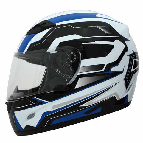 THH TS-39 White and Blue Constable full-face helmet - TH-TS39-WBUC-size