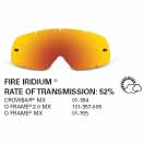 SAMPLE PICTURE - Oakley MX Fire Iridium traditional lens - for Crowbar (OA-01-184), O Frame 2.0 MX (OA-101-357-005) and O-Frame (OA-01-155) goggles - have a 52% rate of transmission
