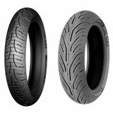 The Michelin Pilot Road 4 has new tread patterns developed for both front and rear to optimise wet and dry grip at all lean angles, and to promote uniform wear