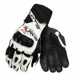 Rjays long Cobra II carbon gloves for women in white/black colourway