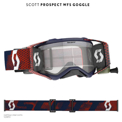 Prospect Goggle WFS Red Blue Clear Works Lens