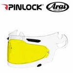 AH-PL000044 - SAMPLE PICTURE - Arai DKS054 Standard Insert (in yellow for high contrast vision) offers normal field-of-view coverage for all Arai SAI faceshields: Corsair-V, RX-Q, Defiant and Vector 2