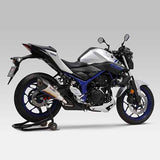 YM-180-346-5E50 - Yoshimura R-11 single exit slip-on for 2015-2017 Yamaha MT-03/YZF-R25/YZF-R3/MT-25 - Street Sports Series - SAMPLE PICTURE - HAS STAINLESS COVER