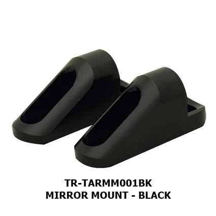 TR-TARMM001BK - Tarmac universal fairing mirror mount for mounting the Mirage and Slipstream mirrors are available separately from the mirrors (but sold in pairs)