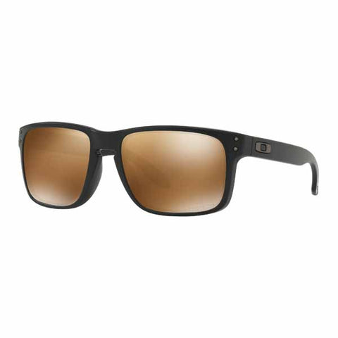 OA-OO9102-D755 - Oakley Holbrook polarised sunglasses in Matte Black frame with Prizm Tungsten Polarised lens