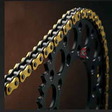 The Renthal R1 MX Works chain when paired with any Renthal Chainwheel (sprocket) you'll get the maximum power at the rear wheel with an extended life for both chain and chainwheels.