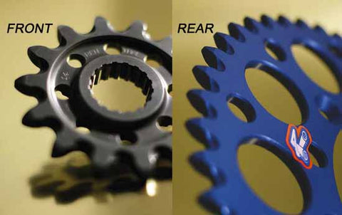 Renthal chainwheels (sprockets) are precision CNC machined to extremely tight tolerances and are available in a range of colours