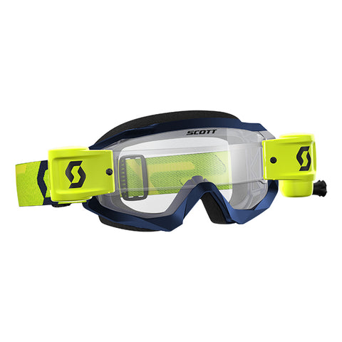 Hustle X MX WFS Goggle Yellow /Blue Clear Works Lens
