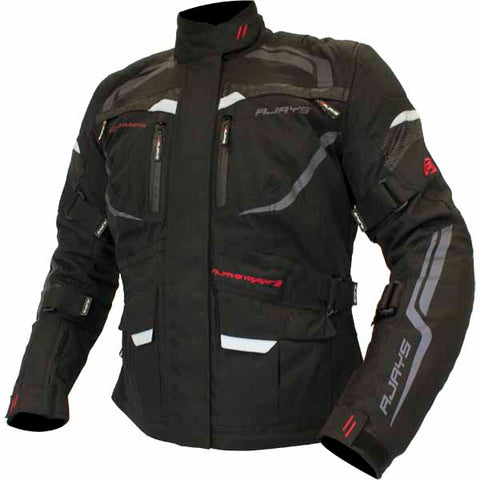 Rjays Voyager V black jacket for men and women - in comfort fit sizing for women and stout sizing for men