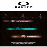 Oakley Prizm lenses give you dramatically enhanced contrast and visibility over a wider range of light conditions
