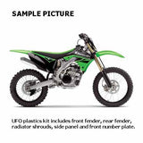 UF-KAKIT221E999 - SAMPLE PICTURE - UFO KAWASAKI KX250F 14-16 PLASTICS KIT (OEM) - kit includes front fender, rear fender, radiator shrouds, side panels and front number plate