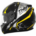 TH-TS44-BY-size - THH TS-44 Aero full face helmet in black and yellow Rift colourway