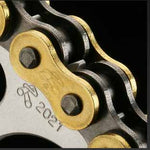 Renthal R4 road chains are pre-stretched - chains come pre-stretched from the factory so less adjustment is needed during initial break in.
