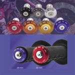 Zeta Bar End Plugs are available for standard or oversize handlebars in a range of colours
