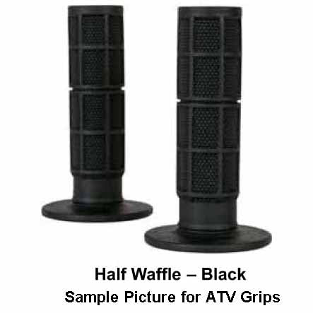 ON-7160900 - Oneal half waffle black grips for ATV's