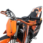 Zeta Pro Armor Hand Guard - available in Titanium, Black and Orange (pictured - DF-ZE71-8006)