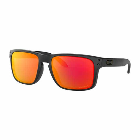 OA-OO9102-E255 - Oakley Holbrook sunglasses in Matte Black frame with PRIZM Ruby lens