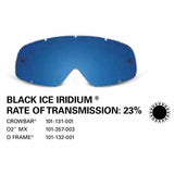 SAMPLE PICTURE - Oakley MX Black Ice Iridium lens - for Crowbar (OA-101-131-001), for 02 MX (OA-101-357-003) and for O-Frame (OA-101-132-001) goggles - have a 23% rate of transmission