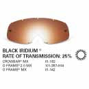 SAMPLE PICTURE - Oakley MX Black Iridium traditional lens - for Crowbar (OA-01-182), O Frame 2.0 (OA-101-357-004) and O Frame (OA-01-142) goggles - have a 25% rate of transmission - limited stock is also available for the Mayhem Pro (OA-100-744-004)