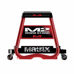 MC-M60-101 - Matrix M60 stand roller caddy, for placing under your Matrix C1, M2 or M64 stand, to make rolling your bike around the workshop easier (pictured with the M2 stand)