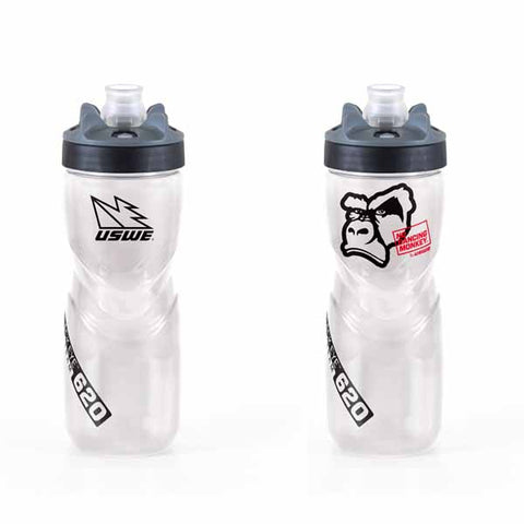 USWE Black Eye Ice Team 620 drink bottle has a double walled cell foam insulation and has a 620ml volume - US-K-301025