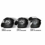 The Rjays TSS Tour Tech Flip Front Helmet has three easy steps