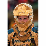 TA-177760W - white Twin Air helmet mud deflector - keep the weighty mud off your helmet peak in those muddy races