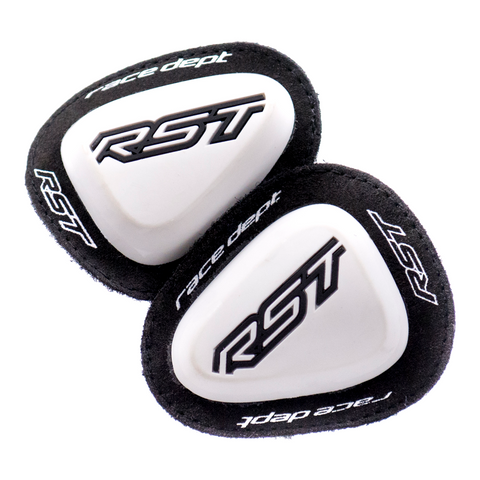 RST FACTORY RACE ELBOW SLIDERS PAIR [WHITE]