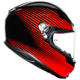 AGV K6 RUSH [BLACK/RED]