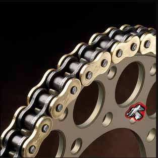 Renthal R4 road chain uses SRS technology - the SRS ring technology enhances chain flexibility and offers smoother operation than standard o-ring chains, whilst also increasing durability.