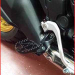 DF-D48-02-534 - DRC wide footpegs (in black) for the Honda Africa Twin - SAMPLE PICTURE