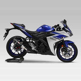 YM-180-346-5E50 - Yoshimura R-11 single exit slip-on for 2015-2017 Yamaha MT-03/YZF-R25/YZF-R3/MT-25 - Street Sports Seriies - SAMPLE PICTURE - HAS STAINLESS COVER