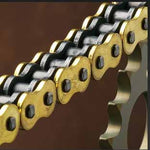 Renthal R4 road chain has improved strength due to a special quad riveting process and thicker outer plates which increases overall strength.